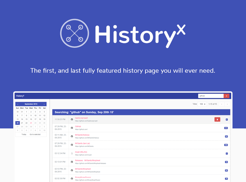 HistoryX for Chrome